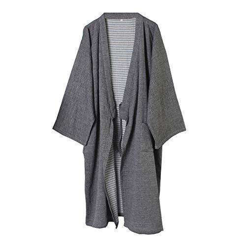 Hombres Yukata Robes Kimono Robe Khan Vapor Ropa Pijamas #
