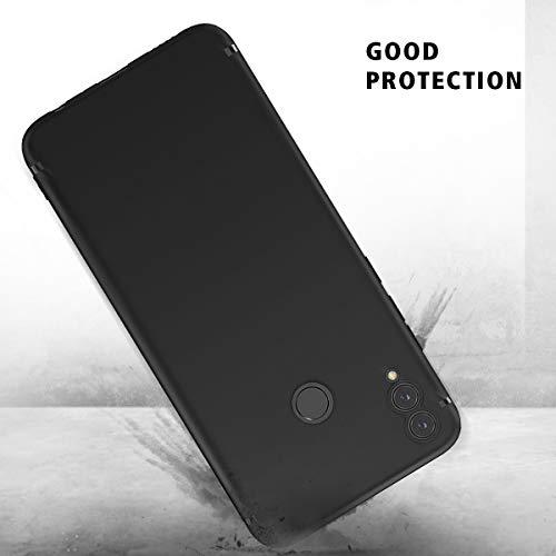 BENNALD Hülle für Honor 8X Hülle, Soft Silikon Schutzhülle Case Cover - Premium TPU Tasche Handyhülle für Huawei Honor 8X (Schwarz,Black) - 6