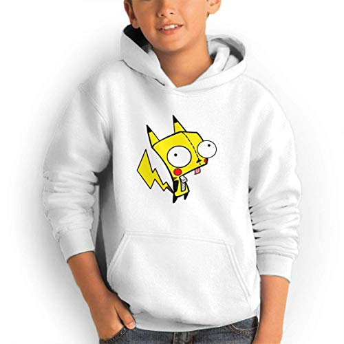ADUUOS Invader Zim Youth Sweater Hoodie Print Long Sleeve Clothes Sweatshirt with Pockets Black