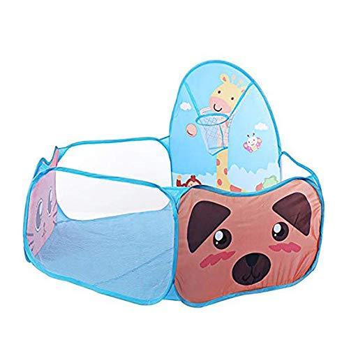 ZXQC Baby Playpen Ball Pool Pool Pool Pool, Gabinete De Seguridad para Niños Pequeños Y Juegos para Bebés De 0 A 6 Años Interiores Y Exteriores (Color : Blue)