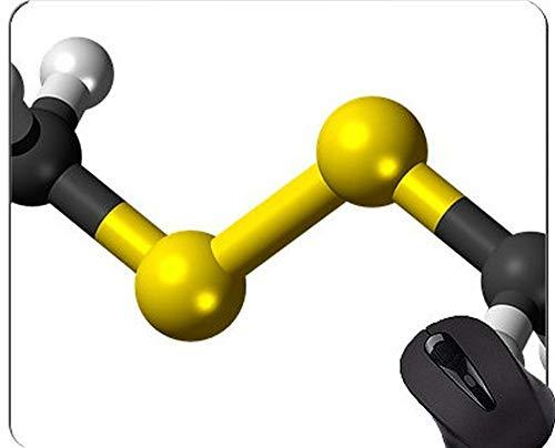 Chemie-Wissenschafts-Mausunterlage Personifiziert, Allylpropyldisulfid-Mausunterlage mit genähtem Rand