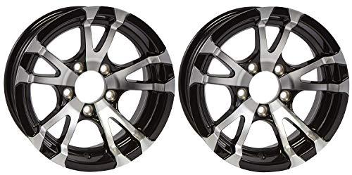 2-Pack Aluminum Trailer Rims Wheels 5 Lug 14 in. Avalanche covid 19 (Spoke Aluminum Trailer Tire coronavirus)
