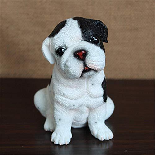 GLKHM Sculptures Ornaments Creative Home Decor Animal Bulldog Sculpture Living Room Study Dog Decoration
