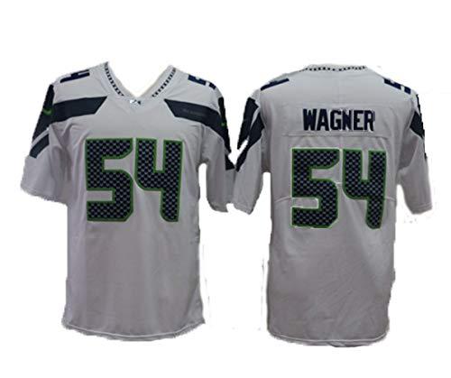 Herren Rugby Trikots, Bobby Wagner Nr. 54 Seattle Seahawks American Football Trikot, Linebacker, Neue modische T-Shirts-White-L