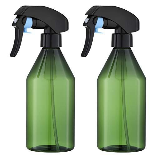 Toureal 300ml Vaporisateur Plastique (2 Pièces) Pulverisateur Vide, Flacon Spray, Brumisateur pour Plante, Cheveux, Jardin (Vert)