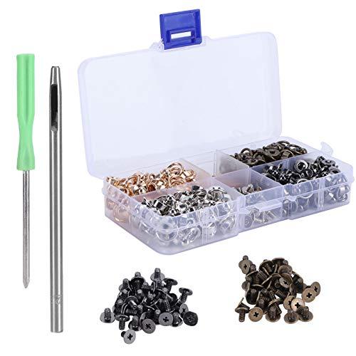 Remaches de anillo con tachuelas, botones con chupete con anillo en D, tachuelas de latón, suministros para manualidades, accesorios de bricolaje para estuches