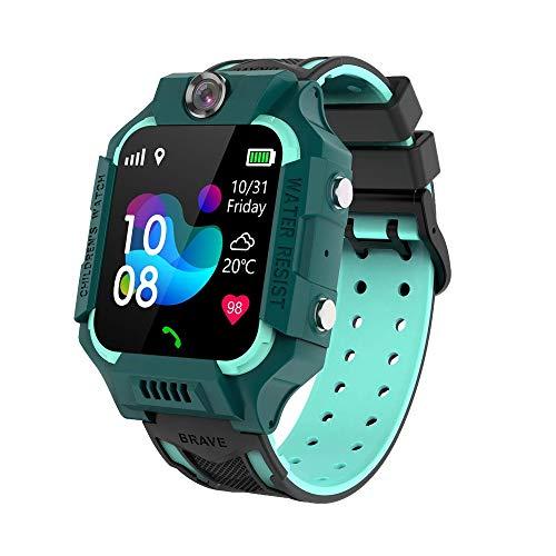PUKEFNU Inteligente Reloj niños 4G WiFi GPS BT a Prueba de Agua SmartWatch videollamada SOS Nueve de posicionamiento de Seguimiento de localización Al Robot de Voz Fotos HD para Android y el iOS,Gn