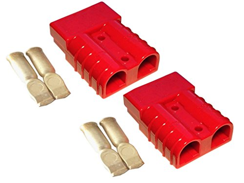 Batterie Stecker 175A 25 mm2 rot Set Steckverbinder für Gabelstapler Kabel