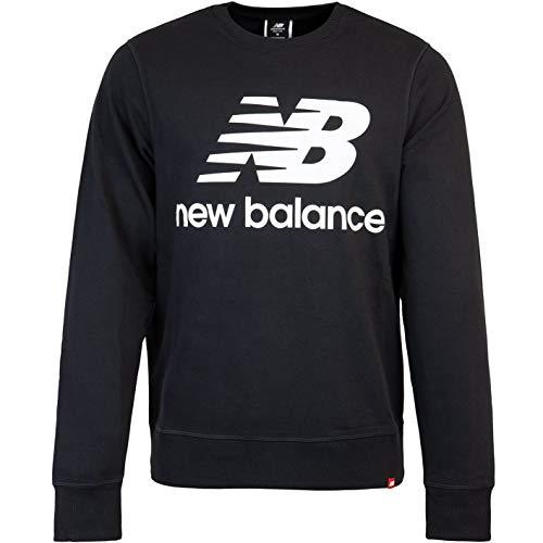 New Balance Essentials Stack Logo Sweater Sweatshirt (Black, s)