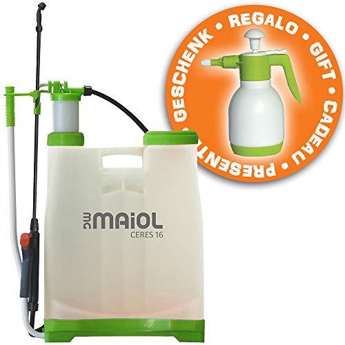Juego pulverizador Agua 16 litros Ceres + pulverizador a presion 1,5 litros de Regalo Maiol