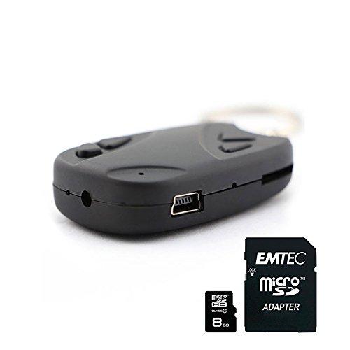 Shop Story–Tür Schlüssel Kamera Spion High Definition HD + 8GB SD Karte mit Adapter–Kamera und Video–als ausgefalles Geschenk für die Spione