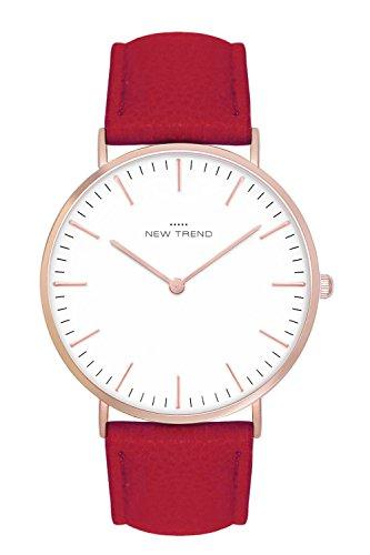 New Trend - Love for Accessories Damen Uhr analog Quarzwerk mit Kunst-Leder-Armband F4-W8TI-A68A