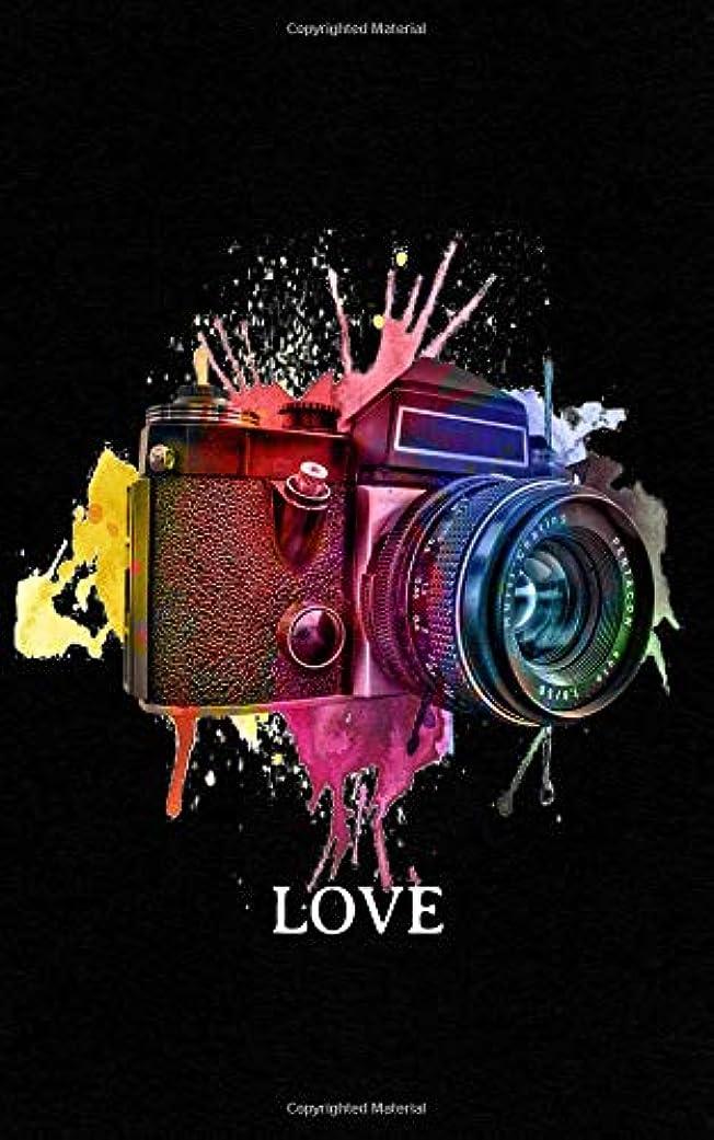 ティームつかまえるマニュアルLove: Photography Notebook   Vintage Watercolor Camera, Photographer Gift - Take Retro Photos! Funny Journal Notebook & Planner Gift!