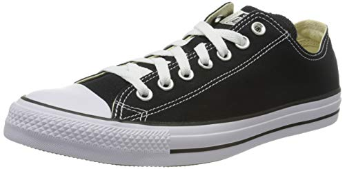 Converse Chuck Taylor All Star Ox, Zapatillas Unisex Adulto, Negro (Black/White), 42 EU