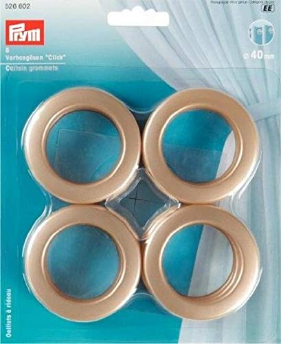 Prym 526602 Gordijn Grommets 40 mm Goud Mat Messing 2x1x1 cm