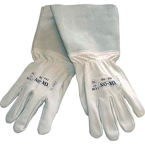 HandschuhMan. OX-ON Tig Schweißerhandschuhe aus weichem Leder lang Rosenhandschuhe Gr. 7-11 (8/M)