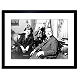 9x7 '' Photo B&W JFK Kennedy Mayor Willy Brandt Berlin