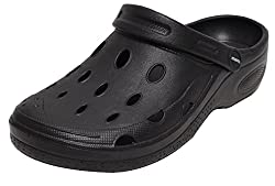 Damen Herren Garten Clogs Gartenschuhe Schuhe Schlappen Sandalen Latschen viele Farben (42, Schwarz)