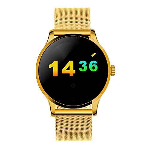 Luoshan K88H 1.22 pulgadas 2.5D Pantalla curva Bluetooth 4.0 IP54 Correa de metal resistente al agua Pulsera inteligente con monitor de ritmo cardíaco y BT Llamada y podómetro y Recordatorio de llamad
