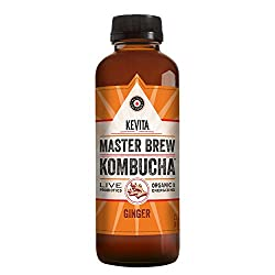 KeVita Master Brew Kombucha, Ginger, with Live Probiotics, 15.2 oz.