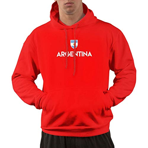 Argentina Soccer Men's Cotton Sleeve Hooded Sweater,Hoodies for Men's XXL