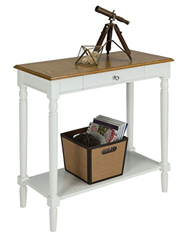 Convenience Concepts French Country Hallway Table, Rustic Oak/White