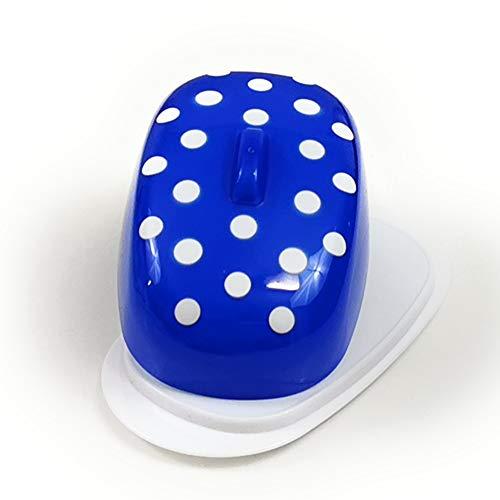 Berossi - Burriera in plastica blu, con coperchio, senza BPA, per conservare il burro in frigorifero in plastica, colore: blu fosforescente, in plastica, girevole, in stile retrò