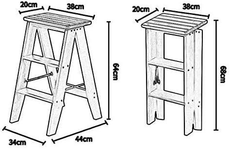 Byrhgood Échelle Tabouret Pliant échelle Echelle Pliante en Bois Pliable Triangle Portable Design Chaise Monte escalier Marchepied (Color : B) B
