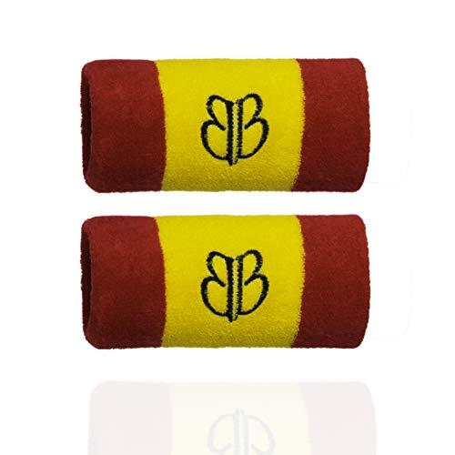 BANBROKEN Muñequeras para el Sudor , compresión Wristbands, Sweatband para Deporte, Tenis, Padel, Crossfit, Gimnasio, Fitness, Unisex -Talla Única (2unds) (Spain)
