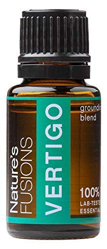 Nature's Fusions Vertigo 100% Pure and Natural Essential Oil Blend for Mind and Body Stability, Aromatherapy and Topical Use, .5 Fl Oz (Pack of 1) (15 mL)