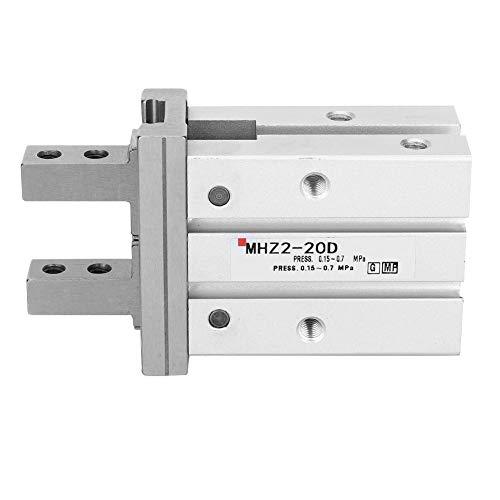 Cilindro neumático de aire MHZ2-20D Cilindro de dedo de doble efecto Cilindro neumático de 10 mm de diámetro Aleación de aluminio