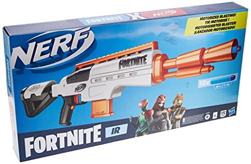 Nerf Fortnite IR Motorised Blaster – Dart-Blasting Fortnite Blaster Replica – 6-Dart Removable Clip, 12 Official Nerf Elite Darts