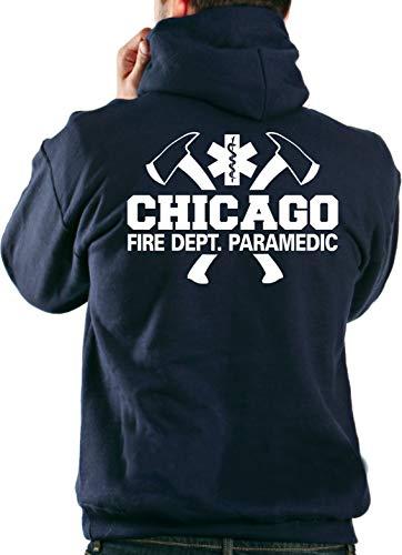 Sweat à capuche, Chicago Fire Dept. avec axes, Paramedic 3L