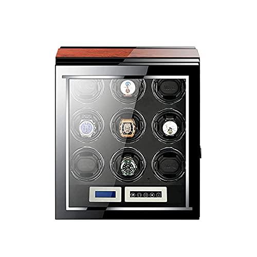 WBJLG Enrolladores de Relojes 9 Enrolladores de Relojes automáticos Relojes LCD con Pantalla táctil Pantalla de visualización Iluminación incorporada 5 Modos Disponibles Motores silenciosos con la
