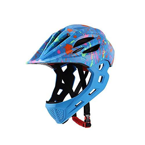 IDWX Casco De Ciclismo para NiñOs con Luz Trasera, Casco Desmontable para NiñOs, MTB, Casco De Bicicleta De Descenso, Seguridad Deportiva, Capacete Ciclismo