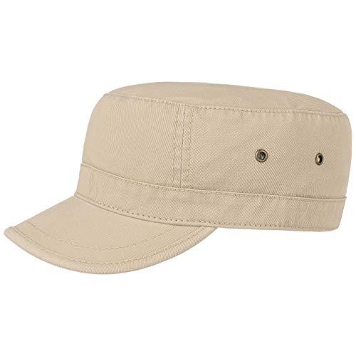 Lipodo Urban Army Cap Damen/Herren - Schirmmütze aus 100% Baumwolle - Armycap L/XL (58-X-Large) - Mütze in Beige - Größenverstellbar