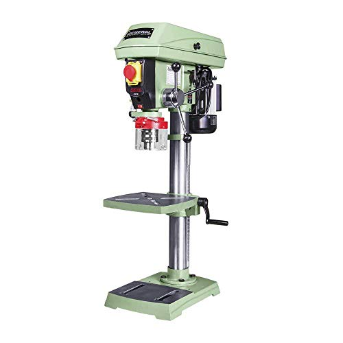 "GENERAL INTERNATIONAL 12"" Commercial Benchtop Drill Press - Variable Speed Drilling Machine with Bulit-in Laser Pointer & Vibration-Free - 75-010 M1"