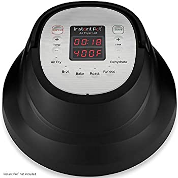 Instant Pot Air Fryer Lid 6 in 1 No Pressure Cooking Functionality 6 Qt 1500 W