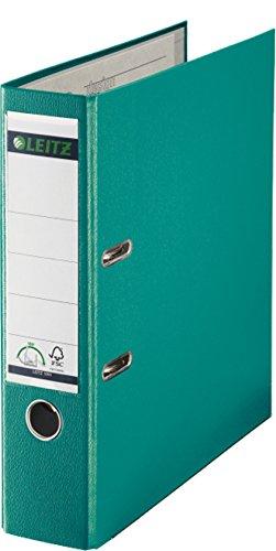 Leitz Qualitäts-Ordner Plastik-Cover 180°A4 (A4, 1 Stück/türkis)