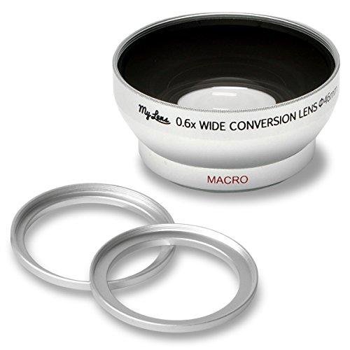 My Lens (マイ レンズ) ビデオカメラ用 広角 0.6倍 薄型 ワイドコンバージョンレンズ レンズ径 40.5mm 43mm 46mm 対応 Full HD VIDEO対応 JTT Online MLE46W06