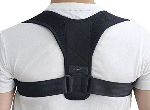 lifenc ajustables para corrección de postura recto hombro espalda Postura–Hombrera clavícula Soporte Dolores de Espalda y Hombro Dolor para hombres mujeres Niños y adolescente