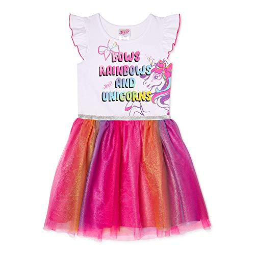 JoJo Siwa Big Girls Tulle Tutu Skirt 6/6X White