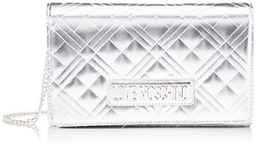 Love Moschino Jc4247pp0a, Pochette da Giorno Donna, Argento (Silver), 7x14x22 cm (W x H x L)