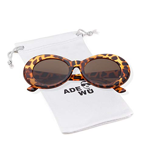 ADEWU Clout Goggles Oval Sunglasses (Leopardo)
