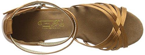 Amurleopard Damen Latein Schuhe 5cm Absatz Dunkelbraun 39(Herstellergröße:40) - 7