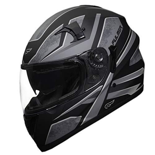 Fulmer, 1511923, Adult Full Face Motorcycle Helmet - 151 Pulse - Black Graphic, M