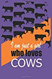 just a girl who loves cows blanket: This unique and funny journal notebook students.Lined Notebook, Perfect and Funny Gift, 110 Pages, 6 x 9 For Women/Men & Boys/Girls