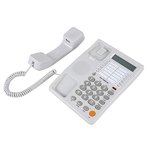 En el teléfono fijo con cable de la pared, pantalla LCD teléfono...