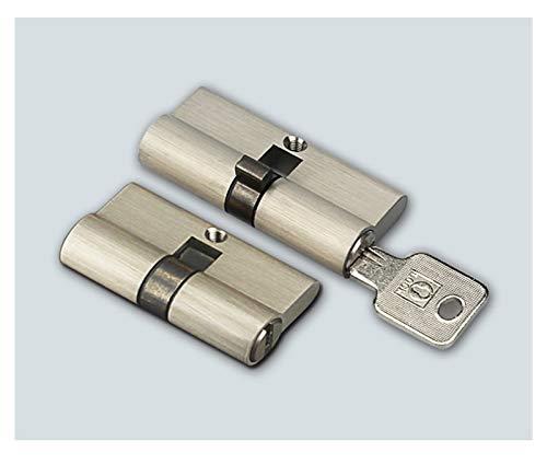 QXYOGO Bombin Cerradura 2 cerraduras con 8 Las mismas Teclas de Largo 70 mm Altura 29 mm Cilindro de Bloqueo Ambos Lados para la Cerradura de la Puerta de Dormitorio Interior 5