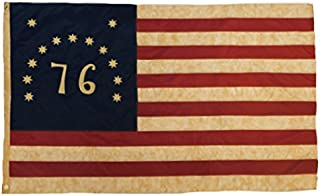 Founding Fathers Flags 76 Bennington Vintage Flag 3x5' Oxford Polyester Embroidered